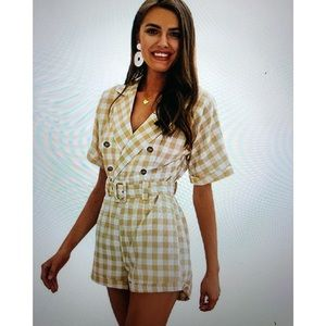 Other - NWT woman's jumpsuit, plaid shirt romper